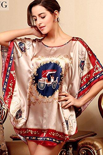Frauen-Schläger-Hülsen-Satin-Minitägiges Hemd-Kleid Nightgown 16
