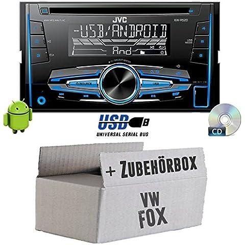 VW Fox - JVC KW-R520E - 2DIN Autoradio Radio - Einbauset - Vw Fox