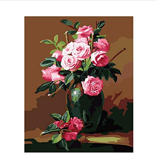 WYTTT Classique Puzzle Adulte 1000 Pièces Paysage Puzzle en Bois Parfum Rose Fleur DIY Objets De Collection Décoration De La Maison Moderne,75X50Cm