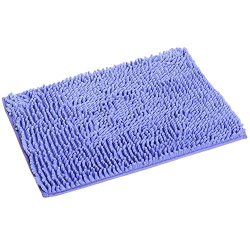 Ruikey Badteppich, Badewannen Anti-Rutsch Teppich saugfähig Mikrofaser Shag Dusche Teppich Teppich 40* 60cm, Chenille, violett, 60 * 40cm/23.6x15.7inch -