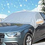 Ansenesna Abdeckung Frontscheibenabdeckung Auto SUV Winter Groß Windschutzscheibe Sunshade Anti Schnee (Grau)