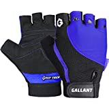 Gallant Microfiber Padded Gloves Cycling Bicycle Bike Ladies Mens Womens Pink Red Blue