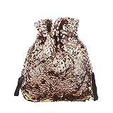 Felicove Damen Handtaschen, Pailletten Glitter Meerjungfrau Rucksack Schule Reise Rucksack Schultertasche