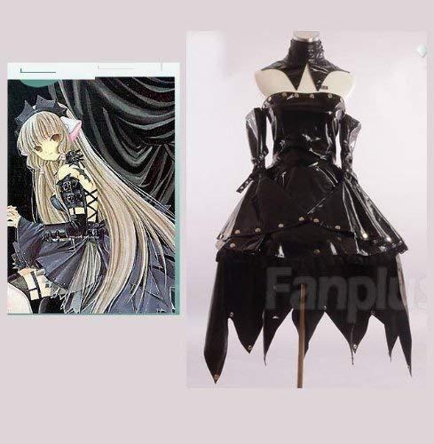 Sunkee Chobits Cosplay Chi Kostüm Gothic Lolita Kleid (Schwarz 2), Größe M ( Alle Größe Sind Wie Beschreibung Gesagt, überprüfen Sie Bitte Die Größentabelle Vor Der Bestellung )