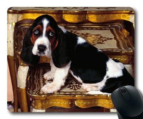 Gaming-Mauspad, Pet Friendly Basset Hound, Präzisionsnaht, strapazierfähiges Mauspad -