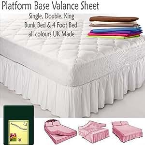Drap housse pour lit superposé taille 75 cm en polycoton - Rose pâle
