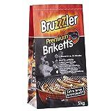 Bruzzzler 5 kg Premium BBQ Holzkohlebriketts, Grillkohle, grillbereit in ca. 35 Minuten, FSC-zertifiziert, hochwertige Kohle zum Grillen