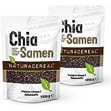 NATURACERAL Chia Samen 2x 1 kg. - | Vegan, naturbelassen und ohne Gentechnik | In Deutschland geprüfte Qualität | Proteine, Omega 3 und Ballaststoffe |
