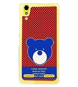 PrintVisa Designer Back Case Cover for Lenovo A6000 :: Lenovo A6000 Plus :: Lenovo A6000+ (Quote A Bear Grows Tubby Without Exercise)