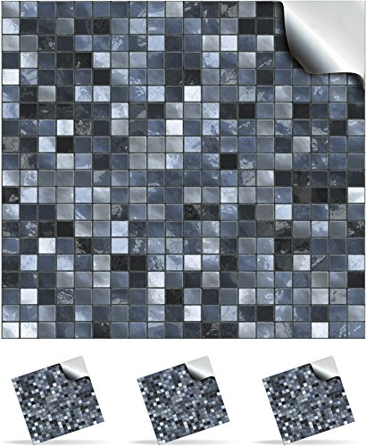 30-blue-stone-self-adhesive-mosaic-wall-tile-decals-for-150mm-6-inch-square-tiles-tp3-realistic-look