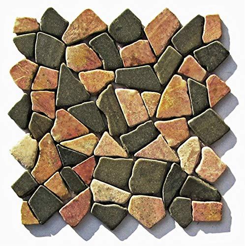 M-007 Marmor Mosaikfliesen Naturstein Bruchsteinmosaik Fliesen Lager Verkauf Stein-Mosaik Herne NRW -