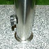 Schirmständer 25kg Granit/Edelstahl, Sonnenschirmständer