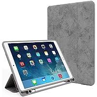 wei Funda para Tableta Funda para Tableta Creativa con Bandeja para rotuladores,Gris,2018/2017 iPad