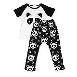 kingko® 1Réglez Vêtements de bébé tout-petits garçons Panda chemise à manches courtes + Pantalons Enfants Ensembles Outfit (24M)