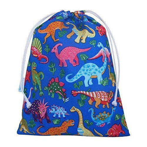 kids-drawstring-cotton-wash-bag-waterproof-lined-dinosaur