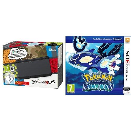Pack New Nintendo 3DS noir + Pokémon Saphir Alpha