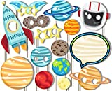 Outer Space Solar System Photo Booth Props Kit - 20 Pack Party Camera Props Fully Assembled