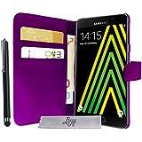 Etui Housse Luxe Violet Portefeuille Samsung Galaxy A5 (2016) SM-A510F + STYLET et 3 FILM OFFERT!!