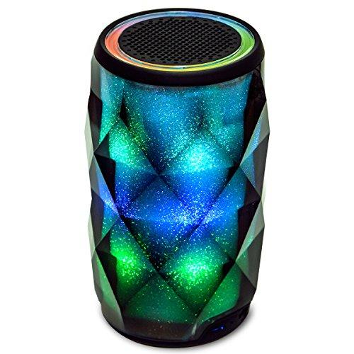 LED Haut-parleur Bluetooth avec Smart Touch Olycism Compatible Lecteur sans fil Stéréo Brillant (Mains-libres Appel / Build-in MIC / Micro Carte SD / AUX-In / Home Decor / Party)