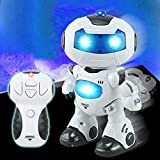 Remote Control Dancing Robot Toy For Kids Intelligent Electric High Quality Cute Musical Sounds Lights RC Dancing Remote Control Robots Toy - For Kids (White)
