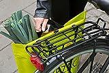 BIKEZAC® Clip-On EINKAUFS-FAHRRADTASCHE (Einseitige Einkaufstasche Faltbar Wasserabweisend Trageschlaufen), BikeZac:Green für BIKEZAC® Clip-On EINKAUFS-FAHRRADTASCHE (Einseitige Einkaufstasche Faltbar Wasserabweisend Trageschlaufen), BikeZac:Green