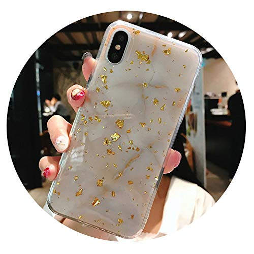 auguce Goldfolie Bling Marmor für iPhone X XS Max XR Telefon Fall weicher TPU-Abdeckung für iPhone 7 8 6 6s Plus-Funkeln-Fall, T3, für iPhone XS (Mobile Boost Telefone S5 Samsung)