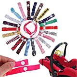 MAXGOODS 4Pcs Color Al Azar Linda Cadena Cinta para Sujetar el Chupete Infantil de Gota Resistente (color al azar) (We don't offer color chioce)