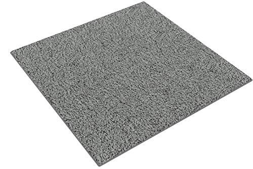 Shaggy-Teppich | Flauschiger Hochflor für Wohnzimmer, Schlafzimmer, Kinderzimmer oder Flur Läufer | einfarbig, schadstoffgeprüft, allergikergeeignet | Grau - 150 x 150 cm