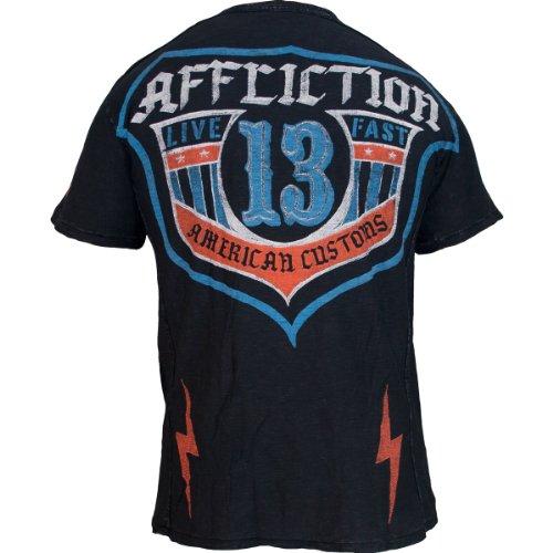 Affliction T-Shirt ACMC Shield Schwarz
