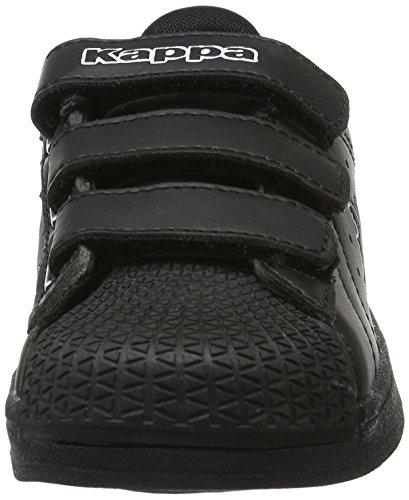 Kappa Olymp, Scarpe da Ginnastica Basse Unisex – Bambini Nero (1110 Black/white)