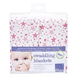 Bambino Mio, Wickeltuch, Rosa Sterne (2er Pack)