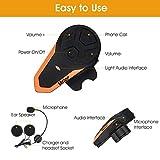 Veetop Motorrad Bluetooth Headset bis zu 3 Benutzer. 1er-Set Intercom