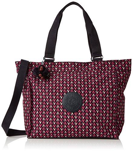 Kipling - New Shopper L, Borse Tote Donna Multicolore (Pink Chevron)