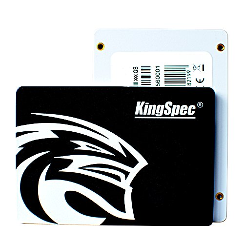 KingSpec SSD da 6,3 cm SATA3 SSD interno per PC, laptop, Mac Black 360GB