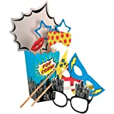 Ginger Ray accesorios de fotos de la cabina - Pop Art Party Superhero