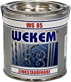 Zinkstaub-Farbe Zinkstaubfarbe Dose, 800 g: silber inkl Pinsel zum Auftragen