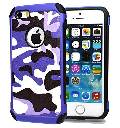 iPhone 6 hülle, iPhone 6s Holster hülle Flip nach oben und unten Handy hülle Premium PU Leder Tasche Flip Case Etui Handy Schutz Hülle für Apple iPhone 6 / 6s - Braun lila 2