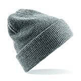 Heritage Style Beanie Hat one size,Heather Grey