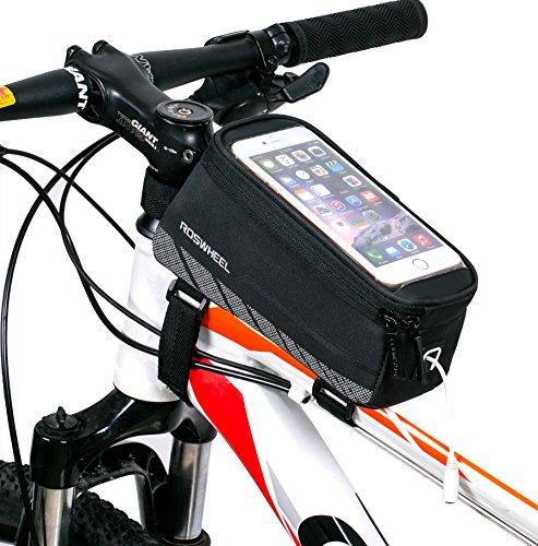 DCCN Fahradtasche Handy Oberrohrtasche Fahrrad für Mountain Bike(passend bis zu 5,5 Zoll)