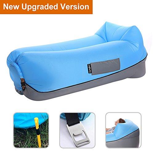 Aufblasbares Sofa Air Lounger mit Kissen Wasserdichtes Luft Liege Luftsofa Couch Bett Sitzsack Aufblasbare Einfach Tragbar für Outdoor Strand Camping Schwimmbad Wandern Kinder Erwachsene von (Freundin Aufblasbare)
