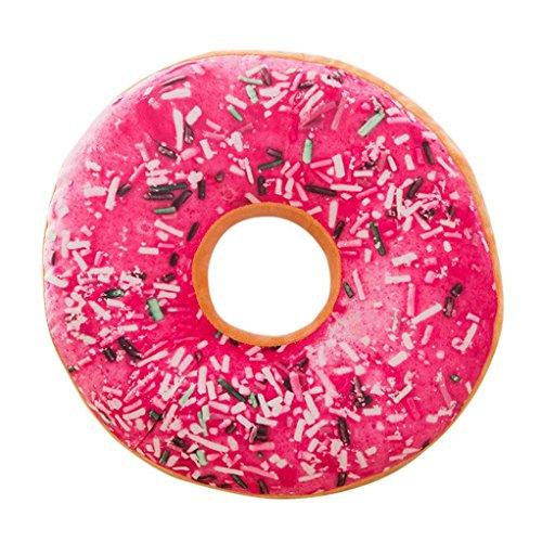 Baumwolle Streifen-kissen-sham (Kissenbezüge erthome Weichem Plüsch Kissen Gefüllte Sitzkissen Süße Donut Form Kissenbezug Fall Spielzeug 16 Zoll (E))
