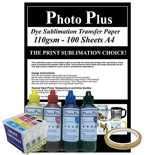 A PhotoPlus Dye Sublimation Printer Conversion Kit for Epson Printers Using  T1295 Cartridges - 200ml Ink