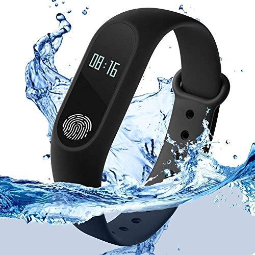 GoSale Xiaomi Mi 4 Smart Fitness Band 2 Bracelet/Fitband, Heart Rate Monitor Sensor M2 OLED Bluetooth Wristband Waterproof Sports Health Activity Tracker Watch