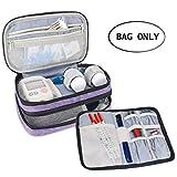 Luxja Insulin Diabetiker Tasche, Doppelschicht Insulin Tasche für Blutzuckermessgeräte und Diabetiker Zubehör (Nur Tasche), Lila