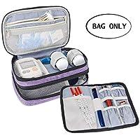 Luxja Insulin Diabetiker Tasche, Doppelschicht Insulin Tasche für Blutzuckermessgeräte und Diabetiker Zubehör... preisvergleich bei billige-tabletten.eu