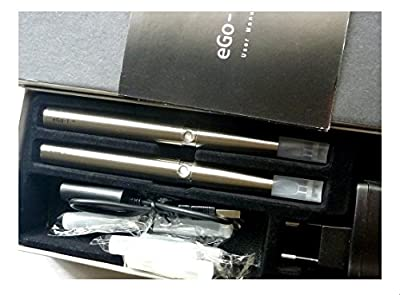 "eGo-T Doppelset STAINLESS Steel mit 2 Stück E-Zigarette, ""E-Shisha Set"" 1100 mAh Power Akkus, viel Zubehör von anaconda"