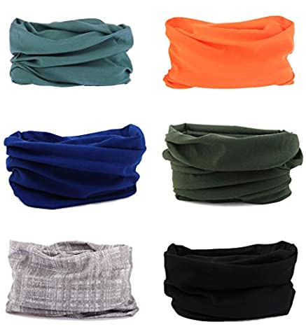 Sports Seamless Tube Headwear Bandana Scarf Multifunctional Elastic Neckwarmer for Yoga Hiking Riding Motorcycling Solid Color
