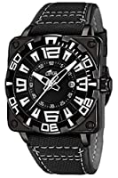 Lotus 15793/1 - Reloj analógico para Caballero de Cuero Negro