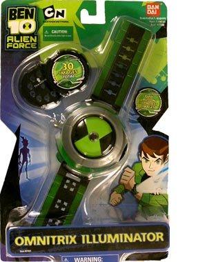 2008 Ben 10 Ten Alien Force Omnitrix Illuminator 30 Images Black & Green Face by bandai
