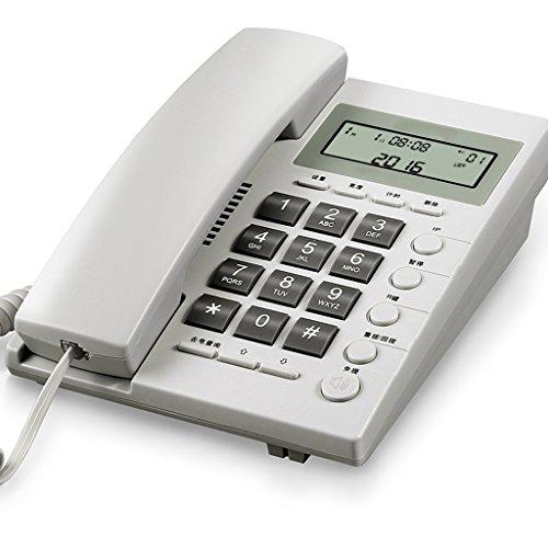 Schnurgebundenes örtlich festgelegtes Telefon mit Freisprechtelefon-Anrufer Identifikation / Anruf-Speicher großer Schirm großes Knopf-Quadrat für Wohnzimmer-Schlafzimmer-Flur-Treppenhaus-Badezimmer-Studie ( Farbe : Weiß - Kunden-id-nummer